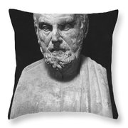 Hippocrates (c460-c377 B.c.) Throw Pillow by Granger