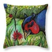 In My Magic Garden Throw Pillow by Angel  Tarantella