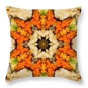 Kaleidoscope Vegetable Sushi Throw Pillow by Amy Cicconi