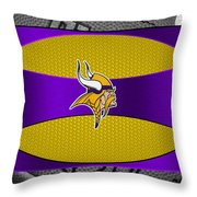 Minnesota Vikings Throw Pillow by Joe Hamilton