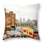 5 Pointz In Itz Prime Throw Pillow by Nishanth Gopinathan