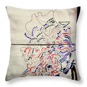 Sign Throw Pillow by Gloria Ssali