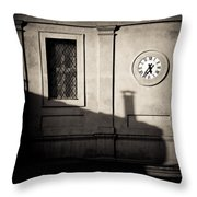 5.35pm Throw Pillow by Dave Bowman
