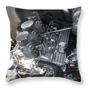 55 Bel Air Engine-8202 Throw Pillow by Gary Gingrich Galleries