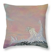Alone Throw Pillow by Christine Cholowsky
