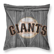 San Francisco Giants Throw Pillow by Joe Hamilton