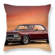 '66 Chevelle Throw Pillow by Douglas Pittman
