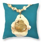 Aphrodite Antheia Necklace Throw Pillow by Augusta Stylianou