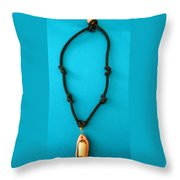 Aphrodite Melainis Necklace Throw Pillow by Augusta Stylianou