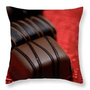 Chocolate Candies Throw Pillow by Amy Cicconi