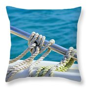 The Ropes Throw Pillow by Laura Fasulo