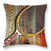 70s Champion Throw Pillow by Benjamin Yeager