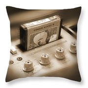 8-track Tape Player Throw Pillow by Mike McGlothlen