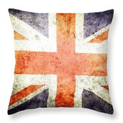 Union Jack  Throw Pillow by Les Cunliffe