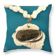 Aphrodite Anadyomene  Necklace Throw Pillow by Augusta Stylianou