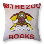 98.the Zoo Rocks Throw Pillow by Donna Wilson
