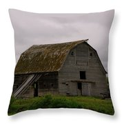 A Barn In Northern Montana Throw Pillow by Jeff  Swan