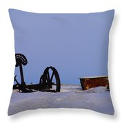 A Bath After Harvest Throw Pillow by Jeff Swan