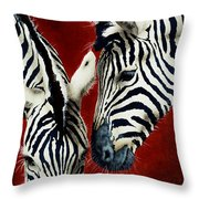 A Black And White Affair... Throw Pillow by Will Bullas