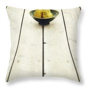 A Bowl Filled With Pears Throw Pillow by Priska Wettstein
