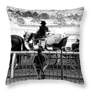 A Casual Observer Throw Pillow by Camille Lopez
