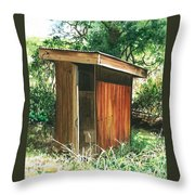 A Childhood Memory Throw Pillow by Barbara Jewell