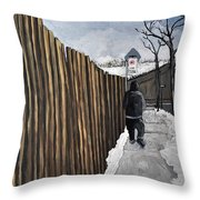 A Cold Day In Pointe St. Charles Throw Pillow by Reb Frost