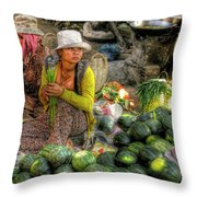 A Contemplative Moment Throw Pillow by Douglas J Fisher