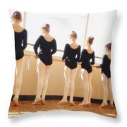 A Dance Class Throw Pillow by Don Hammond