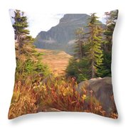 A Day At Glacier Throw Pillow by Richard Rizzo