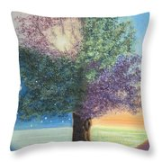 A Day In The Tree Of Life Throw Pillow by Stanza Widen