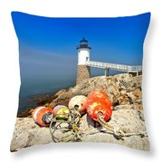 A Day Off Throw Pillow by Adam Jewell