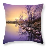 A Distant Glow Throw Pillow by Tara Turner