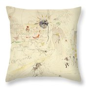 A Dream In Absinthe, 1890 Throw Pillow by Charles Edward Conder