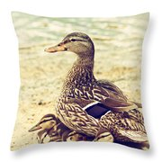 A Family Affair Throw Pillow by Karol Livote