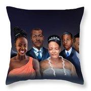 A Family Portrait Throw Pillow by Reggie Duffie