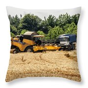 A French Harvest Throw Pillow by Georgia Fowler