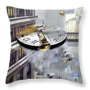 A Glitch In Time Throw Pillow by Mike McGlothlen