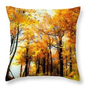 A Golden Day Throw Pillow by Lois Bryan