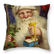A Joyful Christmas Throw Pillow by English School