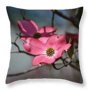 A Kiss Of Pink Throw Pillow by Mary Zeman