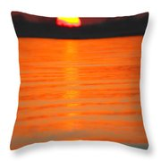 A Last Sunset Throw Pillow by Karol Livote