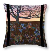 A Life's Journey Throw Pillow by James W Johnson