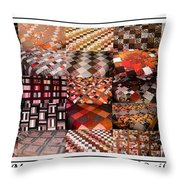 A Menagerie Of Colorful Quilts -  Autumn Colors - Quilter Throw Pillow by Barbara Griffin