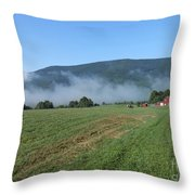 A Morning Ride On Our Paso Fino Stallions Throw Pillow by Patricia Keller