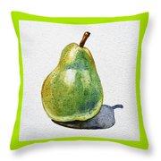 A Pear Throw Pillow by Irina Sztukowski