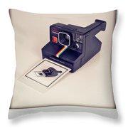 A Polaroid Of A Polaroid Taking A Polaroid Of A Polaroid Taking A Polaroid Of A Polaroid Taking A .. Throw Pillow by Mark Miller