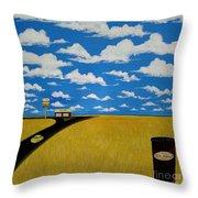 A Prairie Sky Throw Pillow by John Lyes
