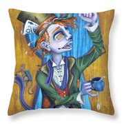 A Raven And A Writing Desk Throw Pillow by Kelly Jade King