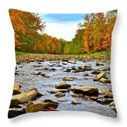A River Runs Through It Throw Pillow by Frozen in Time Fine Art Photography